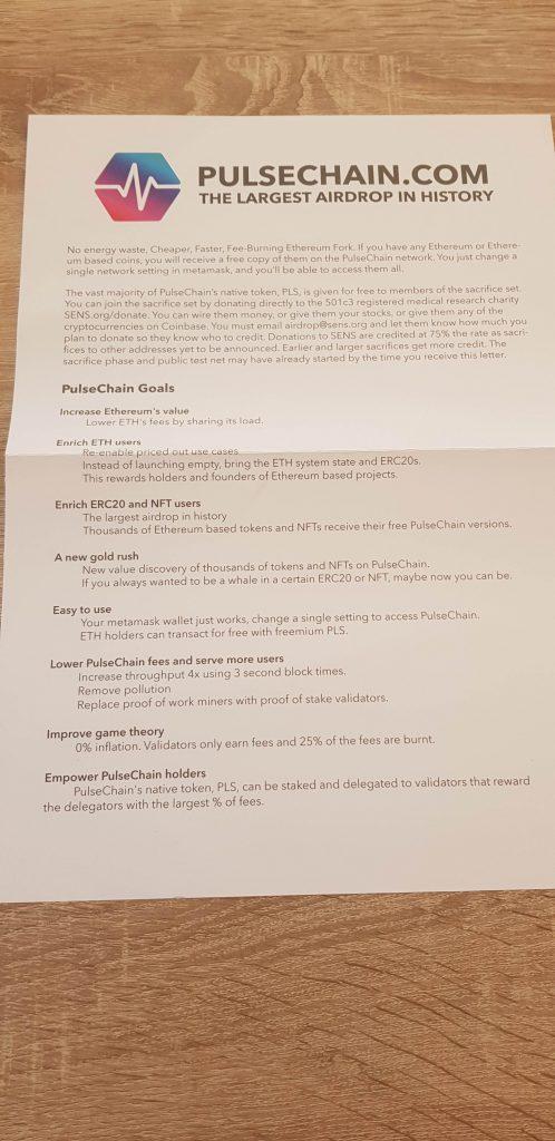 PulseChain Scam Werbung
