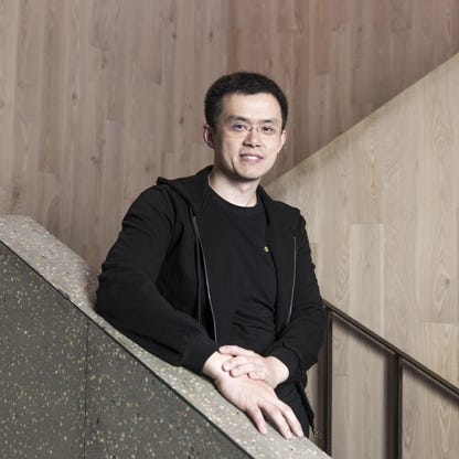 Chanpeng Zhao auf Treppe
