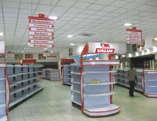 Leere Regale Supermarkt