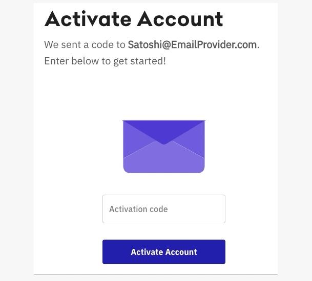 Screenshot Kraken Meldung Account Akitvierungs E-Mail Code